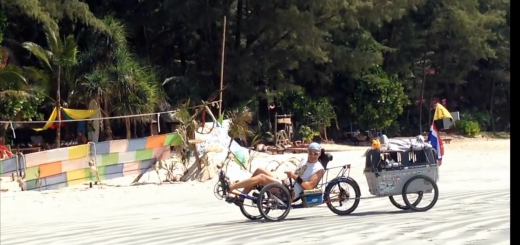 with recumbent trikes in Thailand