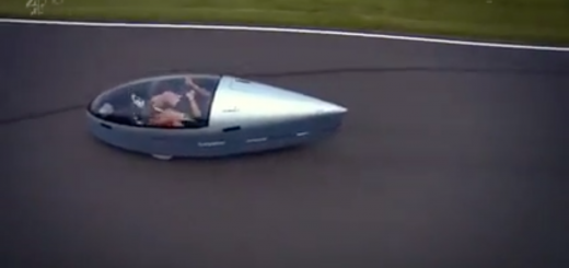 guy martin in his two seat velomobile