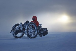 polar trike riding to South Pole