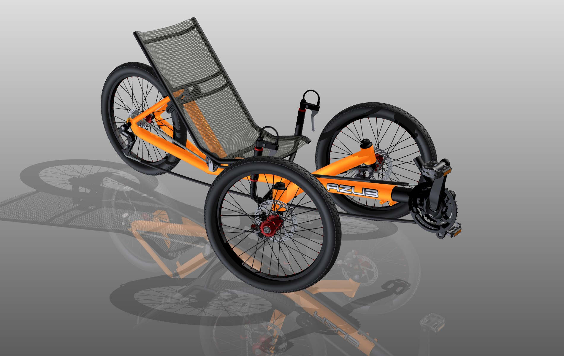 Bikes Recumbent Trike AZUB trike projects