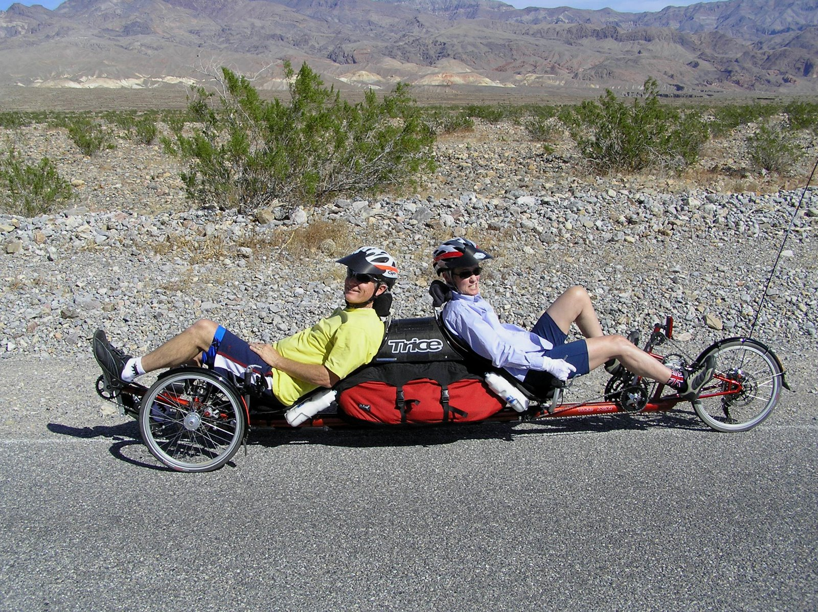 back to back recumbent tandem trike