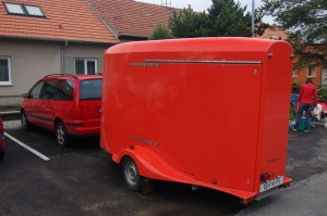 A trailer which is used by Velomobiel.nl for transport of their Quests and even Duo Quest.
