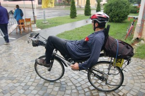 Probably the bravest guy at the race. Pavel had only common clothes even in the heaviest rain and he did almost 450 km with his AZUB Max. Expect the Duo Quest the fastest man on recumbent.