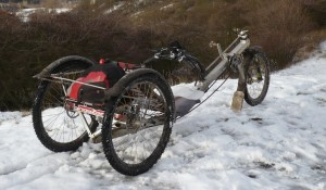 delta trike for winter use - rear view