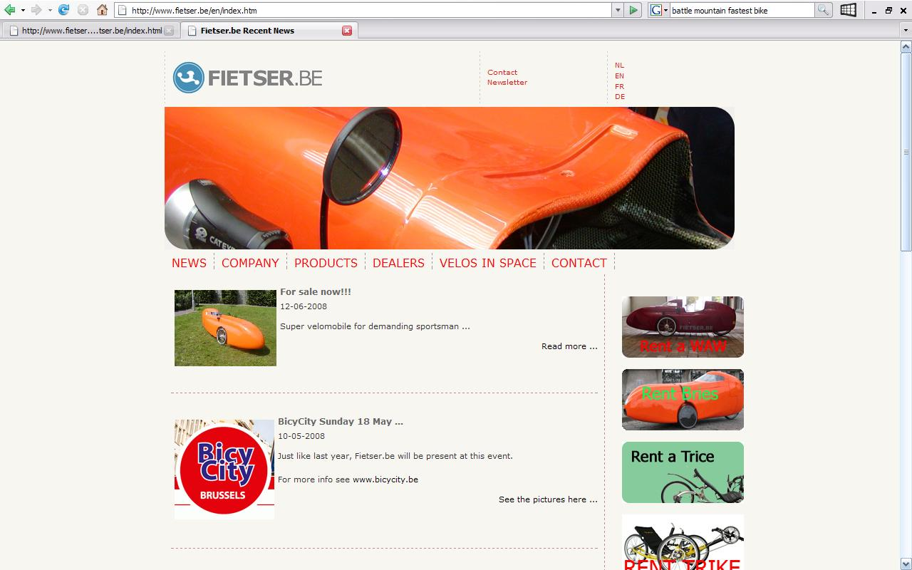 fietser main page
