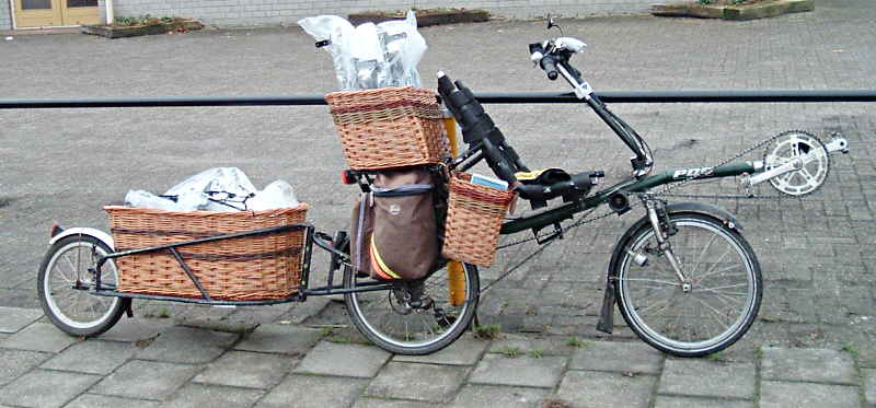 recumbent with baskets