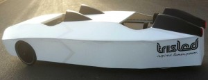 Trisled velomobile concept for four riders